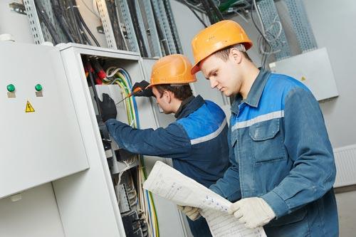 Electrical contractors.